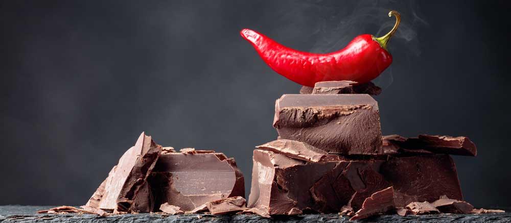 Schokolade mit Chilli