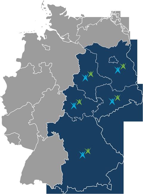 Nielsen Vertretungsgebiet Karte